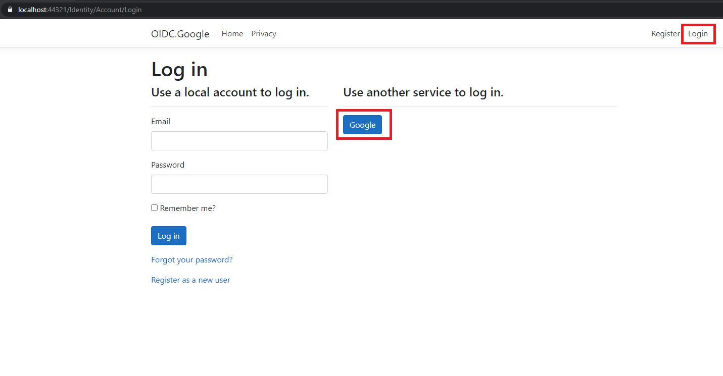 Google authentication - adding Google login to project Step 13